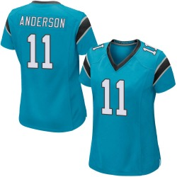 Robby Anderson Carolina Panthers Women's Game Alternate Nike Jersey - Blue